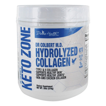 Divine Health - Keto Zone - Hydrolyzed Collagen - 20.11 oz.