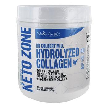 Divine Health - Keto Zone - Hydrolyzed Collagen - 20.11 oz.