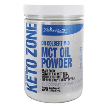 Divine Health - Keto Zone - MCT Oil Powder - Coconut Cream - 10.58 oz.