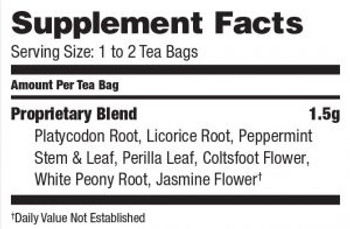 Bravo Teas and Herbs - Tea - Lung Soother - 20 Bag
