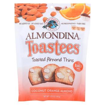 Almondina - Toasted Almond Thins - Coconut Orange Almond - Case of 12 - 5.25 oz.