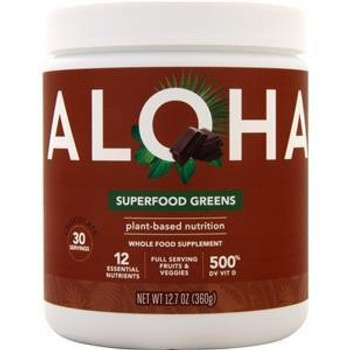 Aloha Inc - Superfood Greens Powder - Chocolate - 12.7 oz.