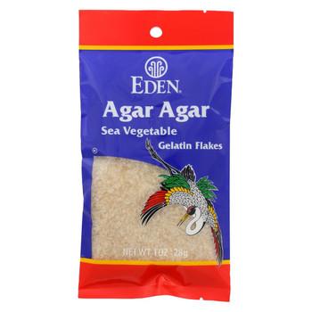 Eden Foods Agar Flakes - Sea Vegetable - Wild Hand Harvested - 1 oz