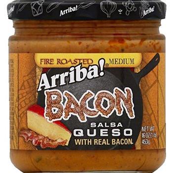 Arriba - Salsa Real Bacon Queso Medium - Case of 6 - 16 oz.