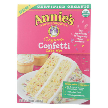 Annie's Homegrown - Mix  Cake Confetti - Case of 8-21 oz.