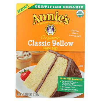 Annie's Homegrown - Mix  Cake Yellow - Case of 8-21 oz.