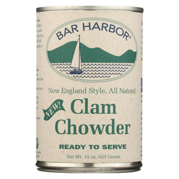 Bar Harbor - Clam Chowder - Ready to Serve - Case of 6-15 oz.