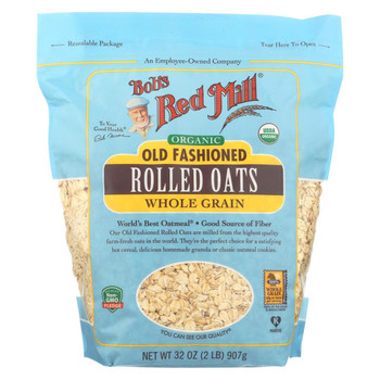 Bob's Red Mill - Oats - Organic Old Fashioned Rolled Oats - Case of 4 - 32 oz.