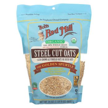 Bob's Red Mill - Oats - Organic Steel Cut Oats - Case of 4 - 24 oz.