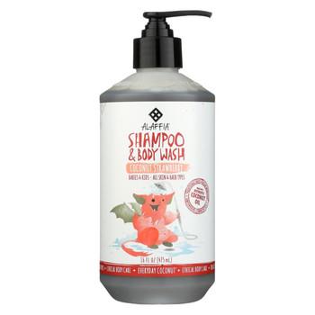 Alaffia - Everyday Shampoo and Body Wash - Coconut Strawberry - 16 fl oz.