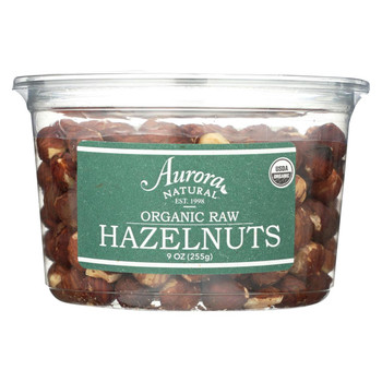 Aurora Natural Products - Organic Raw Hazelnuts - Case of 12 - 9 oz.