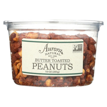 Aurora Natural Products - Butter Toasted Peanuts - Case of 12 - 10 oz.