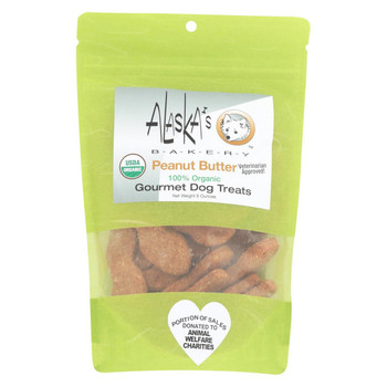 Alaska's Bakery - Dog Treats - Peanut Butter - Case of 6 - 6 oz.