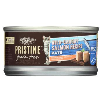 Castor and Pollux - Pristine Grain Free Wet Cat Food - Wild-Caught Salmon Recipe - Case of 24 - 3 oz.