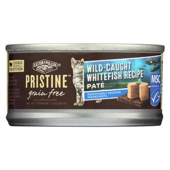 Castor and Pollux - Pristine Grain Free Wet Cat Food - Wild-Caught Whitefish Recipe - Case of 24 - 3 oz.