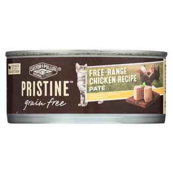 Castor and Pollux - Pristine Grain Free Wet Cat Food - Free-Range Chicken Recipe - Case of 24 - 5.5 oz.