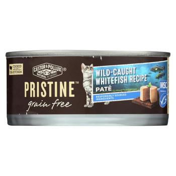 Castor and Pollux - Pristine Grain Free Wet Cat Food - Wild-Caught Whitefish Recipe - Case of 24 - 5.5 oz.