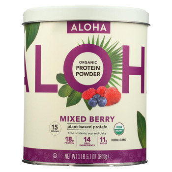 Aloha Inc - Plant-Based Protein Powder - Mixed Berry - 1 lb.