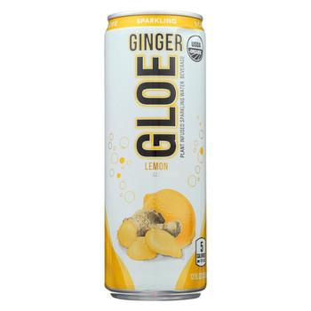 Aloe Gloe - Plant Infused Sparkling Water Beverage - Ginger Lemon - Case of 12 - 12 fl oz.
