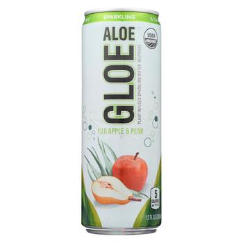 Aloe Gloe - Plant Infused Sparkling Water Beverage - Apple Pear - Case of 12 - 12 fl oz.