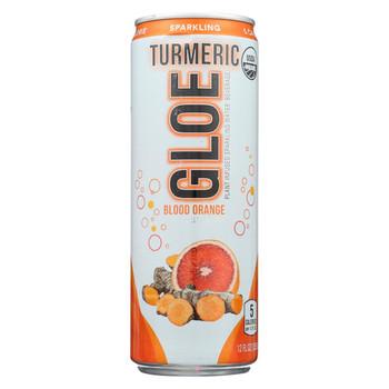 Aloe Gloe - Plant Infused Sparkling Water Beverage - Blood Orange - Case of 12 - 12 fl oz.