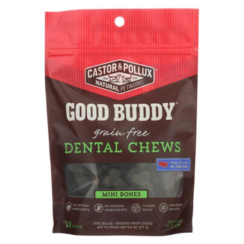 Castor and Pollux - Good Buddy Dental Chews - Mini Bones - Case of 6 - 9.8 oz.