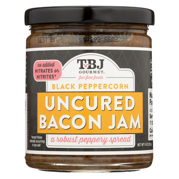 Bacon Jam - Uncured Bacon Jam Spread - Black Peppercorn - Case of 6 - 8.5 oz.