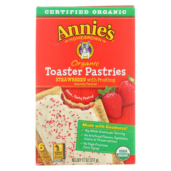Annie's Homegrown - Organic Toaster Pastries - Strawberry - Case of 12 - 11 oz.