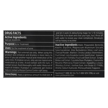 Yes To - Tomatoes - Detoxifying Charcoal Mud Mask - Case of 6 - 0.33 fl oz.