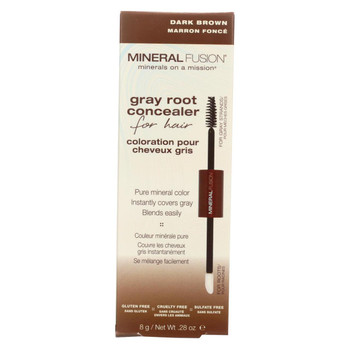 Mineral Fusion - Gray Root Concealer - Dark Brown - 0.28 oz.