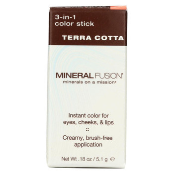 Mineral Fusion - 3-in-1 Color Stick - Terra Cotta - 0.18 oz.