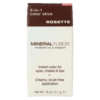 Mineral Fusion - 3-in-1 Color Stick - Rosette - 0.18 oz.