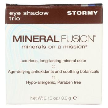 Mineral Fusion - Eye Shadow Trio - Stormy - 0.1 oz.