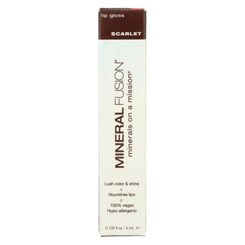Mineral Fusion - Lip Gloss - Scarlet - 0.135 oz.