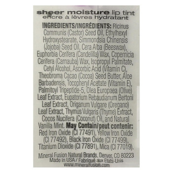 Mineral Fusion - Sheer Moisture Lip Tint - Blush - 0.1 oz.