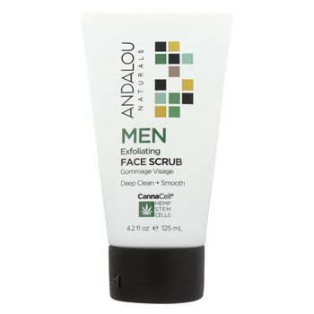 Andalou Naturals - Face Scrub - Men's Exfoliating - 4.2 fl oz.