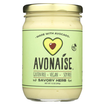 Avonaise - Vegan Mayo Substitute - Savory Herb - Case of 6 - 12 oz.