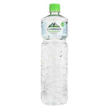 Alkawonder - Alkaline Spring Water - Case of 6 - 33.8 fl oz.