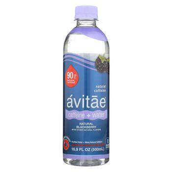 Avitae - Caffeine and Water - 90mg - Blackberry - Case of 12 - 16.9 fl oz.