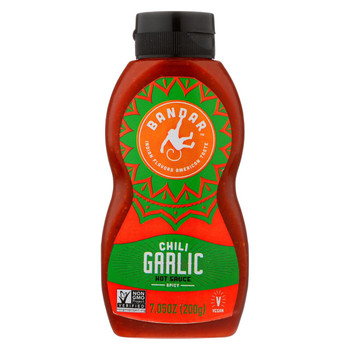 Bandar Monkey Foods - Hot Chili Sauce - Garlic - Case of 6 - 7.05 oz.