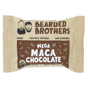 Bearded Brothers - Energy Bar - Mega Maca Chocolate - Case of 12 - 1.52 oz.
