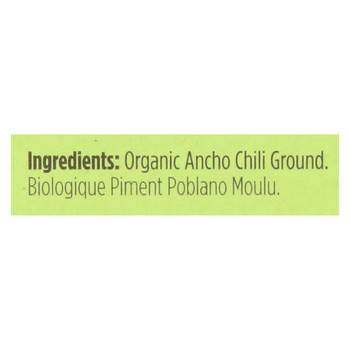Spicely Organics - Organic Ancho Chili - Ground - Case of 6 - 0.45 oz.