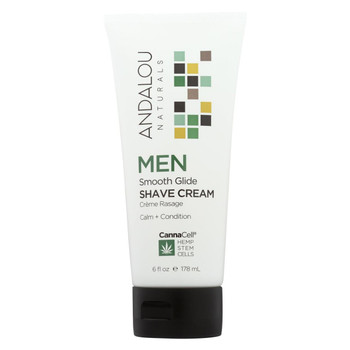 Andalou Naturals - MEN Smooth Glide Shave Cream - 6 fl oz.