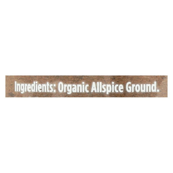 Spicely Organics - Organic Allspice - Ground - Case of 3 - 1.6 oz.