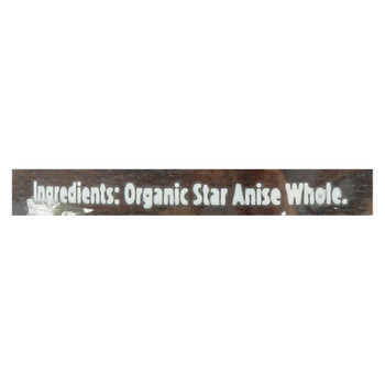 Spicely Organics - Organic Anise Star - Whole - Case of 3 - 0.5 oz.