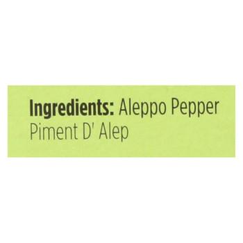 Spicely Organics - Organic Aleppo Pepper - Case of 6 - 0.1 oz.