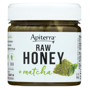 Apiterra - Raw Honey - Matcha - Case of 6 - 8 oz.