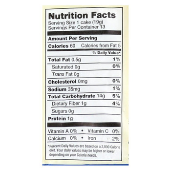 Lundberg Family Farms - Brown Rice Cakes - Lightly Salted - 8.5 oz.