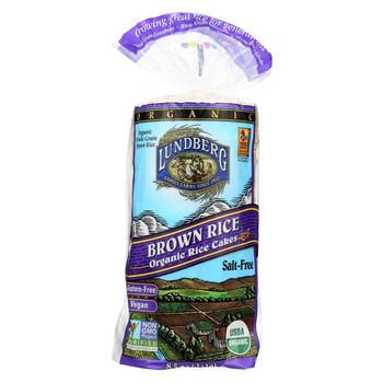 Lundberg Family Farms - Brown Rice Cakes - Salt Free - 8.5 oz.