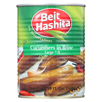Beit Hashita - Cucumbers in Brine - Large - Case of 12 - 19 fl oz.